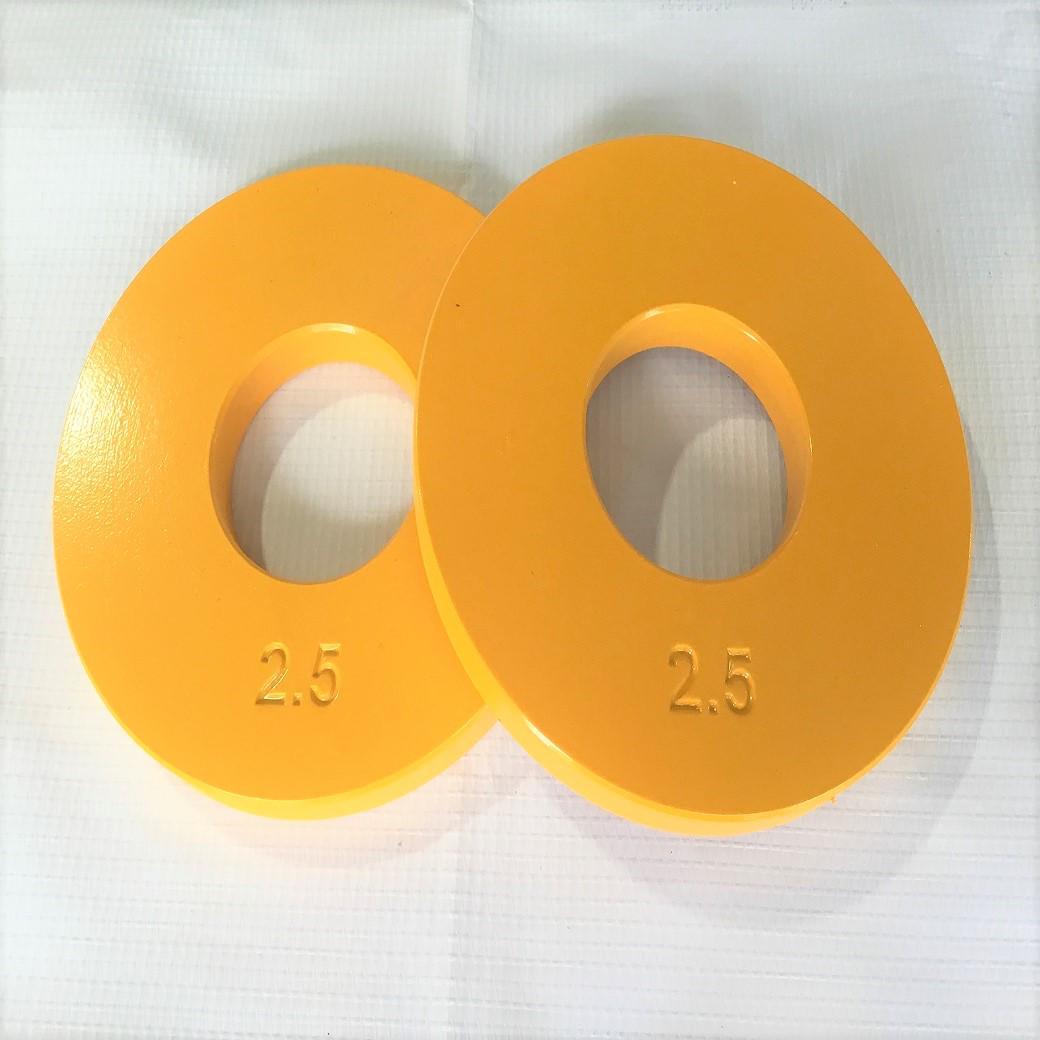 【SMP2.5LB】鉄製ミニプレート2.5ポンド (2枚セット)