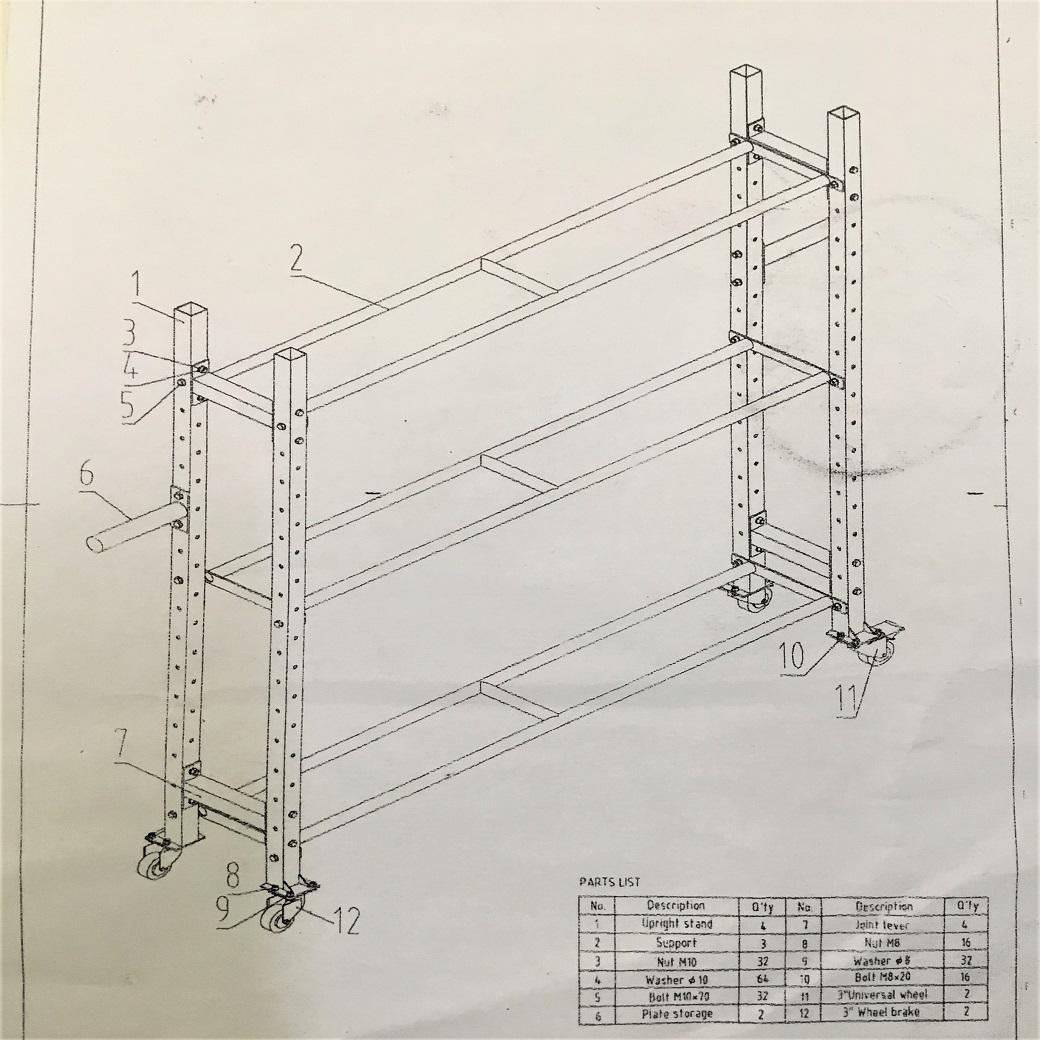No.FH5029  マルチ収納ラック(中)