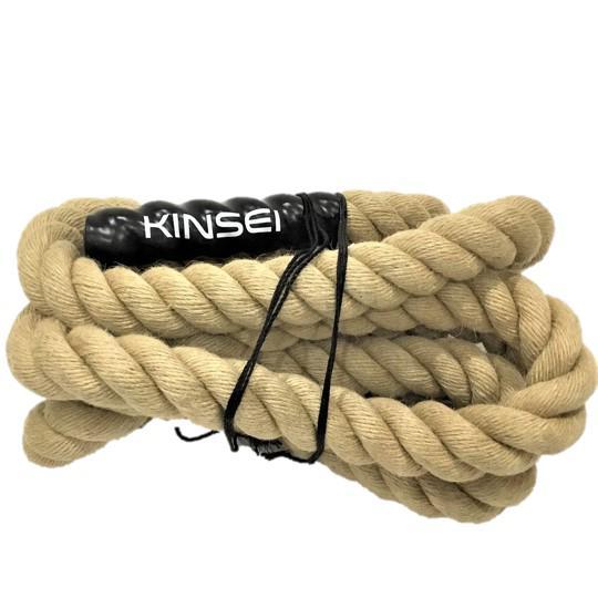 綱登りトレーニングロープ(メタルコネクター) 長さ15フィート 太さ2インチ
